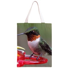 Male Ruby Throated Humming Bird Classic Light Tote Bag