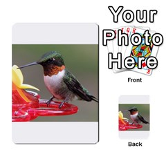SKU Male Ruby Throated Hummingbird Multi-purpose Cards (Rectangle)