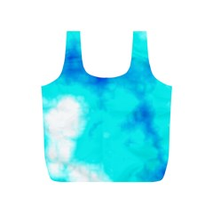 Turquoise Sky  Full Print Recycle Bags (S)