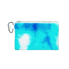 Turquoise Sky  Canvas Cosmetic Bag (S)