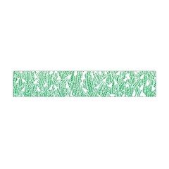 Green Ombre Feather Pattern, White, Flano Scarf (mini)