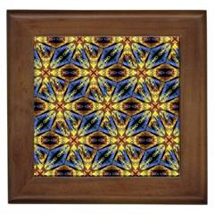 Vibrant Medieval Check Framed Tiles