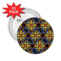 Vibrant Medieval Check 2.25  Buttons (10 pack)