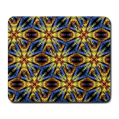 Vibrant Medieval Check Large Mousepads