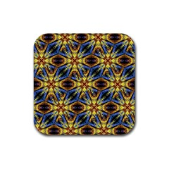 Vibrant Medieval Check Rubber Square Coaster (4 pack)