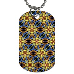 Vibrant Medieval Check Dog Tag (Two Sides)