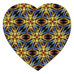 Vibrant Medieval Check Jigsaw Puzzle (Heart)