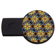 Vibrant Medieval Check USB Flash Drive Round (4 GB)