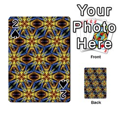 Vibrant Medieval Check Playing Cards 54 Designs