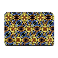Vibrant Medieval Check Small Doormat