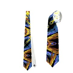 Vibrant Medieval Check Neckties (One Side)