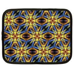Vibrant Medieval Check Netbook Case (Large)