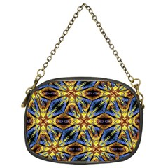 Vibrant Medieval Check Chain Purses (One Side)
