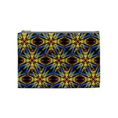 Vibrant Medieval Check Cosmetic Bag (Medium)