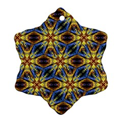 Vibrant Medieval Check Snowflake Ornament (2-Side)