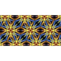 Vibrant Medieval Check YOU ARE INVITED 3D Greeting Card (8x4)
