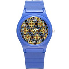 Vibrant Medieval Check Round Plastic Sport Watch (S)