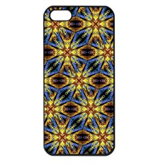 Vibrant Medieval Check Apple iPhone 5 Seamless Case (Black)