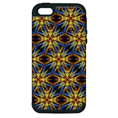 Vibrant Medieval Check Apple iPhone 5 Hardshell Case (PC+Silicone)