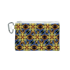 Vibrant Medieval Check Canvas Cosmetic Bag (S)