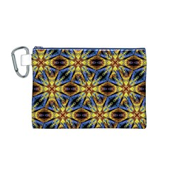 Vibrant Medieval Check Canvas Cosmetic Bag (M)