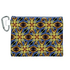 Vibrant Medieval Check Canvas Cosmetic Bag (XL)