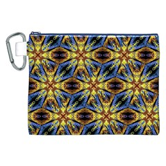 Vibrant Medieval Check Canvas Cosmetic Bag (XXL)