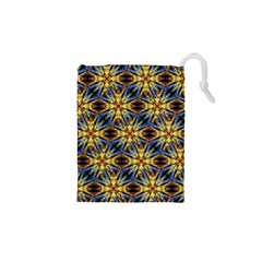 Vibrant Medieval Check Drawstring Pouches (XS)