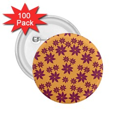 Purple And Yellow Flower Shower 2.25  Buttons (100 pack)