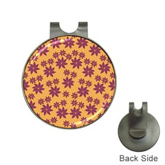 Purple And Yellow Flower Shower Hat Clips with Golf Markers