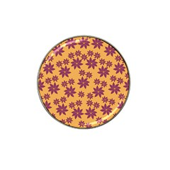 Purple And Yellow Flower Shower Hat Clip Ball Marker