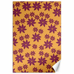 Purple And Yellow Flower Shower Canvas 20  x 30