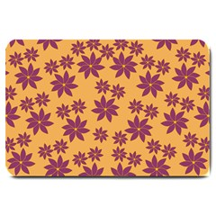Purple And Yellow Flower Shower Large Doormat