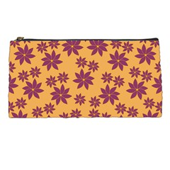 Purple And Yellow Flower Shower Pencil Cases