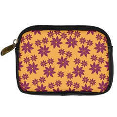 Purple And Yellow Flower Shower Digital Camera Cases