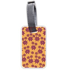 Purple And Yellow Flower Shower Luggage Tags (Two Sides)
