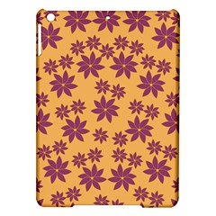 Purple And Yellow Flower Shower iPad Air Hardshell Cases