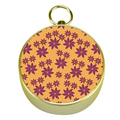 Purple And Yellow Flower Shower Gold Compasses