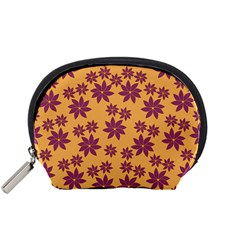Purple And Yellow Flower Shower Accessory Pouches (Small)