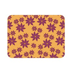 Purple And Yellow Flower Shower Double Sided Flano Blanket (Mini)