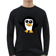 Chibii Penguin Long Sleeve Dark T-Shirts