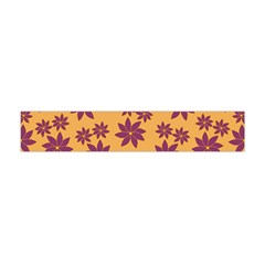 Purple And Yellow Flower Shower Flano Scarf (Mini)