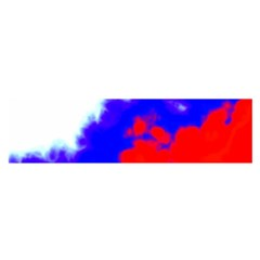 Red White And Blue Sky Satin Scarf (Oblong)