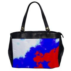 Red White And Blue Sky Office Handbags