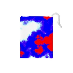 Red White And Blue Sky Drawstring Pouches (Small)