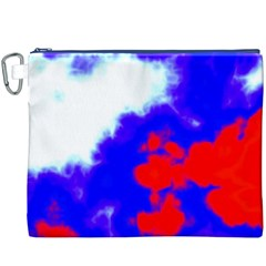 Red White And Blue Sky Canvas Cosmetic Bag (XXXL)