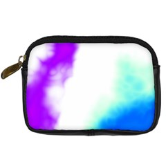 Pink White And Blue Sky Digital Camera Cases