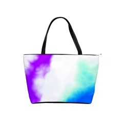 Pink White And Blue Sky Shoulder Handbags