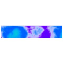 Purple And Blue Clouds Flano Scarf (Small)