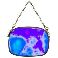 Purple And Blue Clouds Chain Purses (Two Sides)